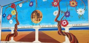 "Mural sobre la ""Paz"" en I.E.S Celso Díaz"